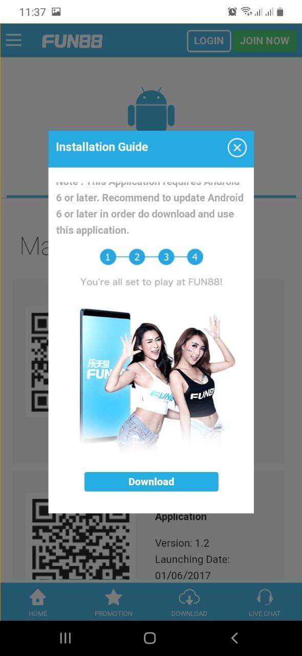 Download Fun88 Apk Mobile Dengan Android
