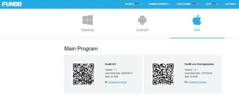 Memperkenalkan Aplikasi Mobile Fun88 Versi Android dan Juga iOS