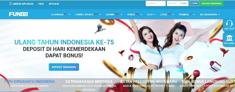 Cara Taruhan di Fun88 Indonesia