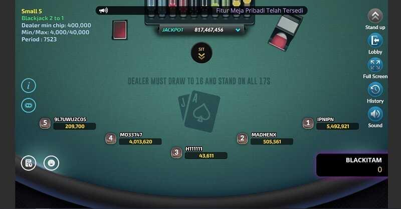 Rules Utama dalam Blackjack Fun88