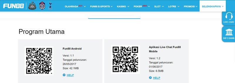 Aplikasi dan Situs Ponsel di Situs Resmi Fun88 Sebagai Sumber Jackpot Besar