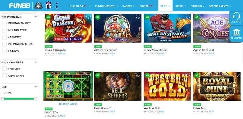 Peluang Menang Tinggi Microgaming Slot Games di Fun88 - Permainan Slot